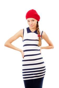 Free Girl In Red Hat Stock Photography - 16279812