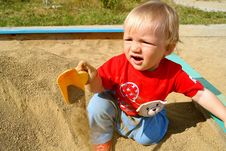 Free The Boy In A Sandbox Royalty Free Stock Image - 16279876