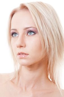 Free Close Up Portrait Of Blonde Beautiful Girl Royalty Free Stock Photography - 16279897
