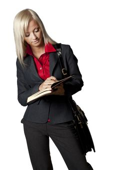Free Woman With A Notebook Royalty Free Stock Photos - 16279898