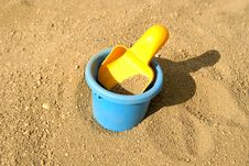Free Scoop And Bucket On Sand Stock Photography - 16279912