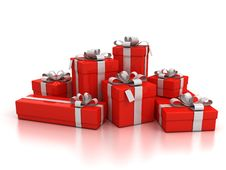 Free Gift Boxes Over White Background Stock Images - 16279934