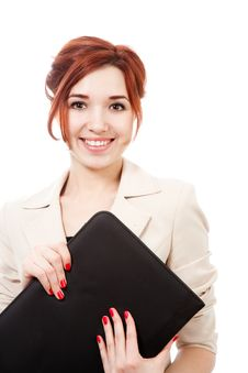 Free Girl With Folder Royalty Free Stock Image - 16279966