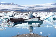 Free Jokulsarlon Lake With Glacier Stock Photography - 16280622