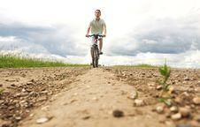 Free Man On Bicycle Stock Photos - 16280813
