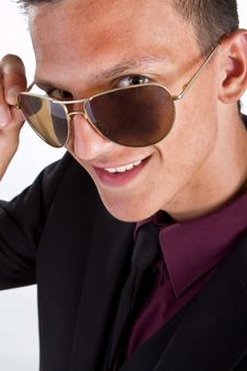 Free Young Trendy Businessman With Sunglasses Stock Images - 16281044