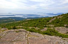 Free Cadillac Mountain On Mount Desert Island. Royalty Free Stock Image - 16281256
