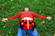 Rest On A Grass Stock Image