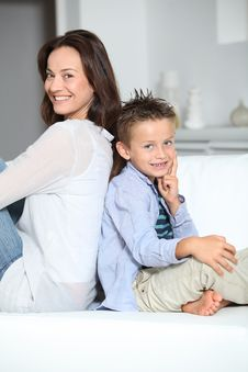 Mother And Son At Home Royalty Free Stock Image
