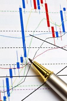 Background Of Business Graph Stock Image