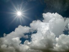 Sun Shine In The Blue Sky Stock Photography