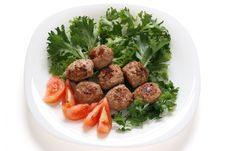 Free Meatballs With Lettuce Stock Photos - 16282743