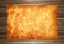 Free Old Paper On The Wood Background Royalty Free Stock Image - 16282766