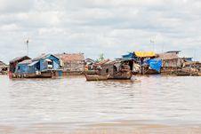 Fishing Village On Tonle Sap Lake Stock Photo
