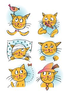 Free Collection Of Cartoon Cats Stock Photo - 16282930