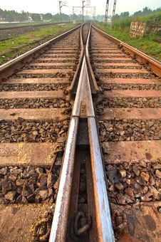 Railway Tracks Royalty Free Stock Photos