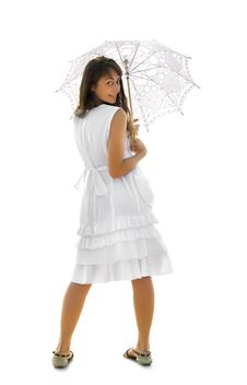 Free A Girl With Umbrella Stock Photography - 16284612