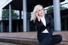 Free Business Woman On The Phone Stock Photo - 16286640