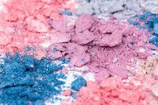 Free Colour Crushed Eyeshadows Royalty Free Stock Photos - 16286908