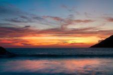 Free Beach Sunset In Phuket Island, Thailand Stock Photo - 16287000