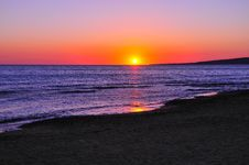 Free Mediterranean Sunset Royalty Free Stock Photos - 16287118