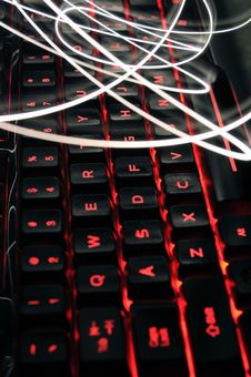 Glowing Keyboard Stock Images