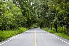 Straight Road Stock Image
