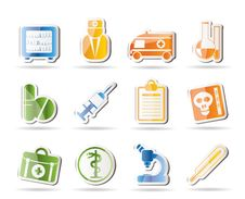 Free Medical And Healthcare Icons Royalty Free Stock Photography - 16287417