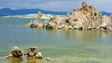 Tufa Formations In Mono Lake, California Royalty Free Stock Photography