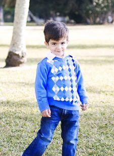 Free Happy Hispanic Boy At The Park Posing Royalty Free Stock Photos - 16288078