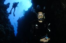 Free Scuba Divers On Coral Reef Stock Photos - 16288573