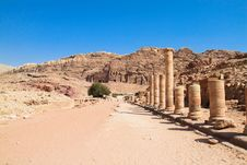 Free Street Of Facades In The Old City Of Petra, Jordan Stock Photo - 16288830