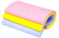 Colored Rags Stock Images