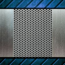Metal Template Background Stock Photo
