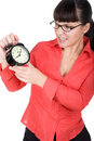 Free Woman With Clock Stock Images - 16291004