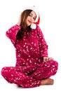 Free Beautiful Young Lady Wearing Santa Hat Stock Photo - 16291220