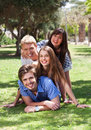 Free Beautiful Group Of Friends At The Park Royalty Free Stock Images - 16291229