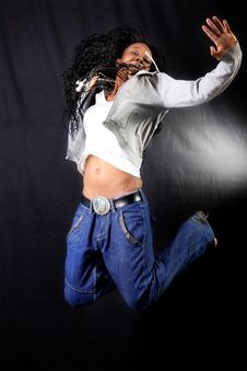 Jumping  Dancer Royalty Free Stock Photography