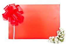 Free Red Card With Flowers Stock Image - 16290841