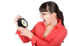 Free Woman With Clock Stock Photo - 16290990