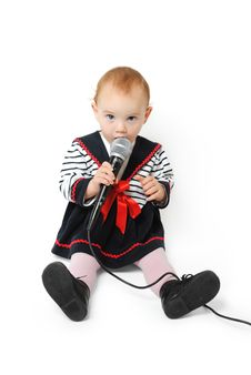 Baby Girl Singing Royalty Free Stock Photos