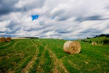 Free Countryside With Bales Of Hay Stock Photos - 16291133