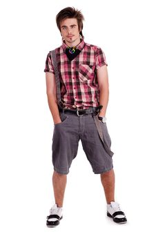 Free Cool Young Guy With Hands In His Pockets Stock Photo - 16291230