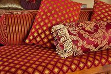 Free Red Gold Velvet Pillows Stock Images - 16291604