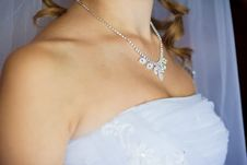 Free Adornment On Neck Of Young Bride Stock Photography - 16291872