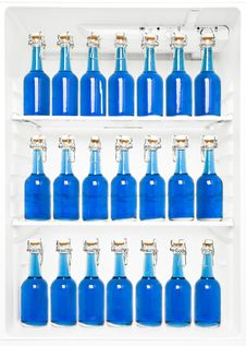Free Bottles In A Fridge Royalty Free Stock Images - 16292359