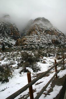 Free Red Rocks Canyon Fog Stock Photo - 16292380