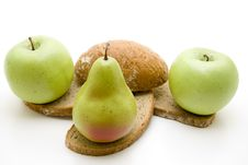 Free Bread With Apple And Pear Stock Photography - 16292822