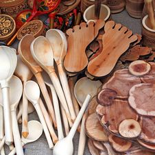 Free Wooden Spoons Royalty Free Stock Photo - 16292975