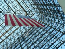 Free Structural Geometry With American Flag Royalty Free Stock Photo - 16293155